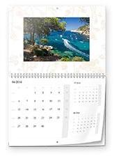 Calendrier mural double-page